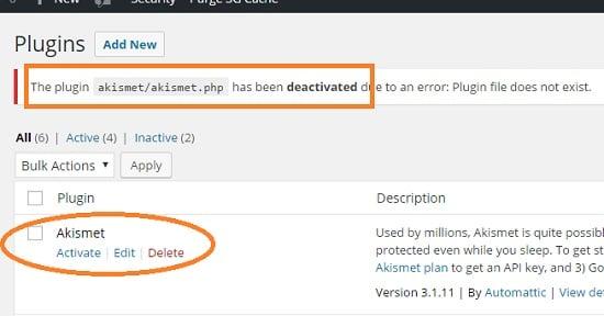 aksimet deactivated