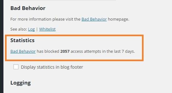 bad behavior statistics