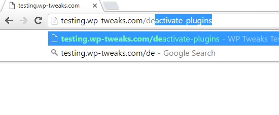deactivate plugins