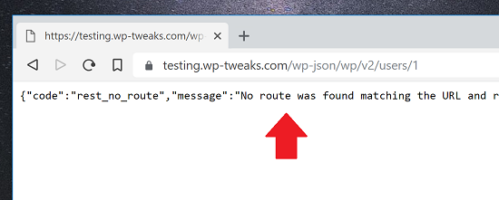 WordPress Rest Endpoint JSON Disabled