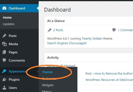 WordPress Beginner Tutorial - First Step is to change Themes