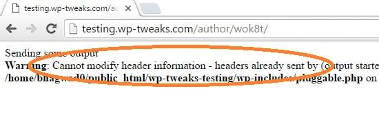 Headers already sent error message