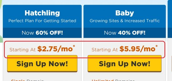 Hostgator Web Hosting Prices