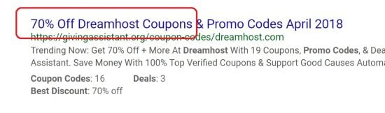 Wrong DreamHost Coupon Code