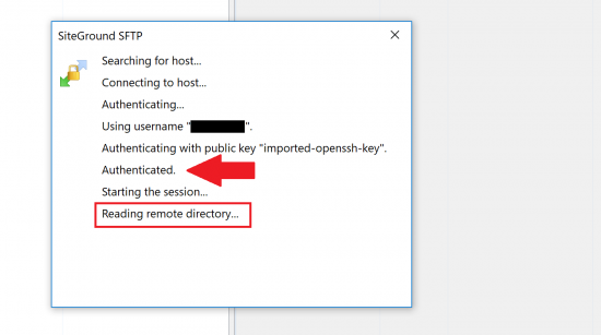 Access your site over SFTP using cPanel