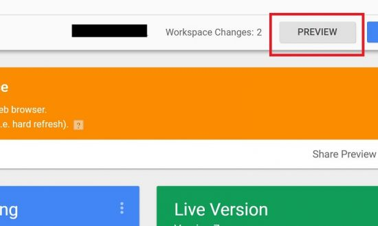 Enable Preview Mode in Google Tag Manager