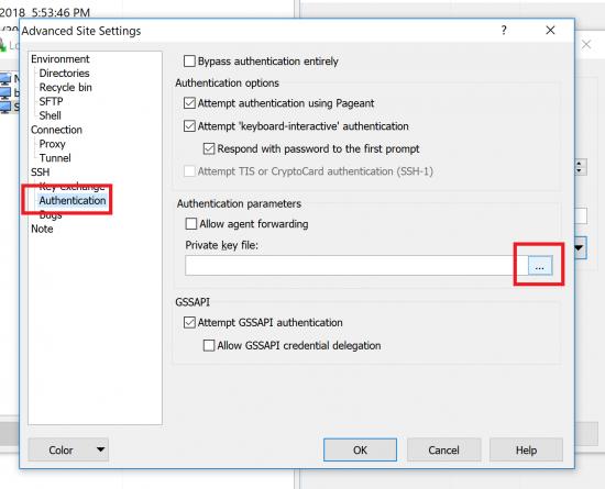 Locate the Private Key ppk File