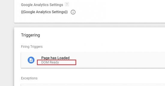 Make Sure that Analytics Loads on DOM Ready - Not Pageview