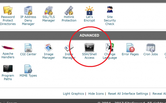 SSH Shell Access in cPanel