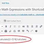 Use formulas in the WordPress Editor