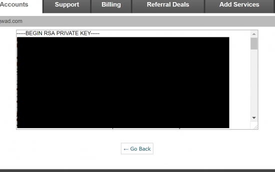 View and Copy Private Key