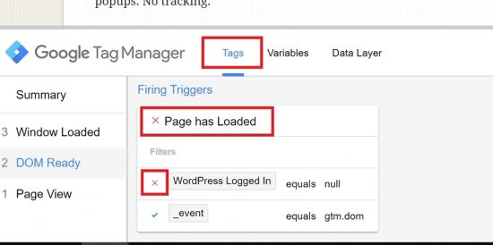 Exclude Logged in WordPress Users with GTM