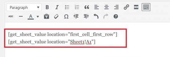 Using the Shortcode in the WordPress Editor