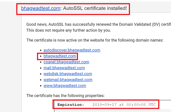InMotion SSL Certificate E-Mail