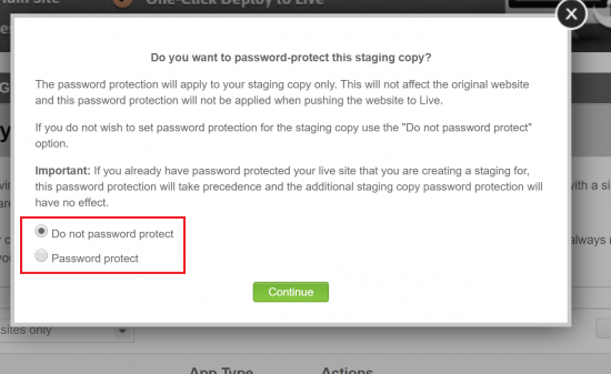 Password Protection if Necessary