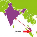 Singapore to India Distance