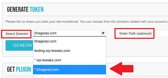 Choose Domain and Folder of Where to Install WordPress