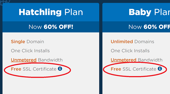 Hostgator Free SSL for Shared Hosting