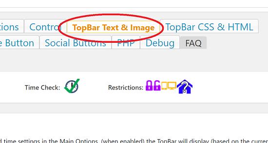 TopBar Text & Image