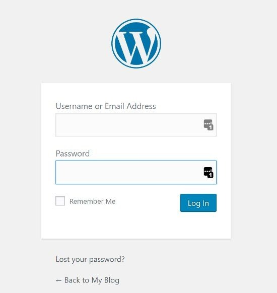 WordPress Login for the First Time
