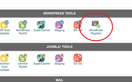 WordPress Migrator Icon