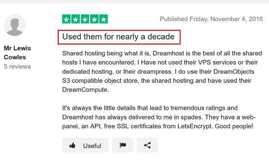 DreamHost Review 2 - Used for a Decade