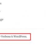 Verbosa Footer Link Credits