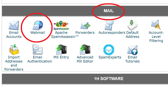 Webmail Icon in cPanel