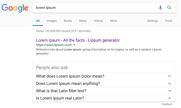 Actual Lorem Ipsum Page