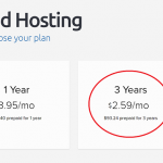 DreamHost Pricing 2.59 for 3-Years
