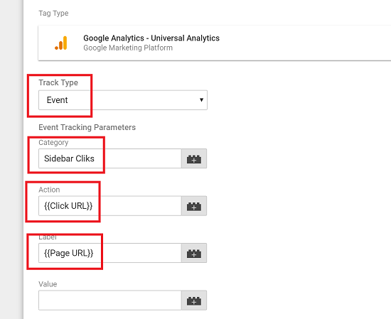 Configure the Event to Track a Click