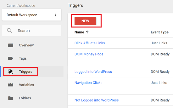 Create a New Trigger to Track Clicks on a Link