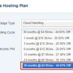 Highest Hostgator Cloud Hosting Discount is for 3 Years