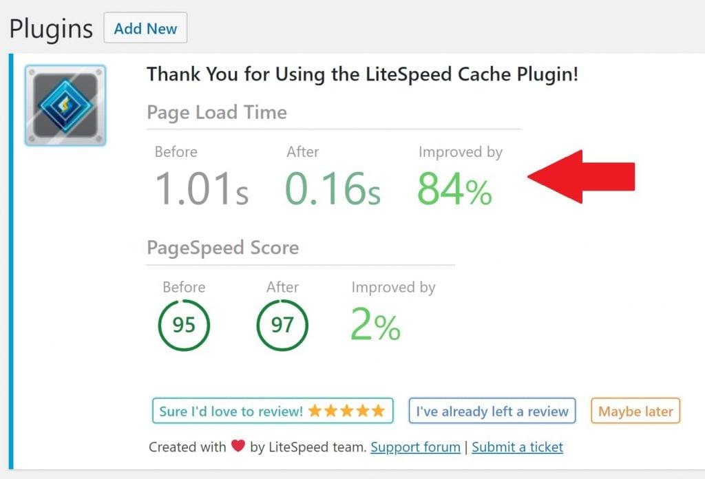 LiteSpeed Server Caching Improvements on shared hosting