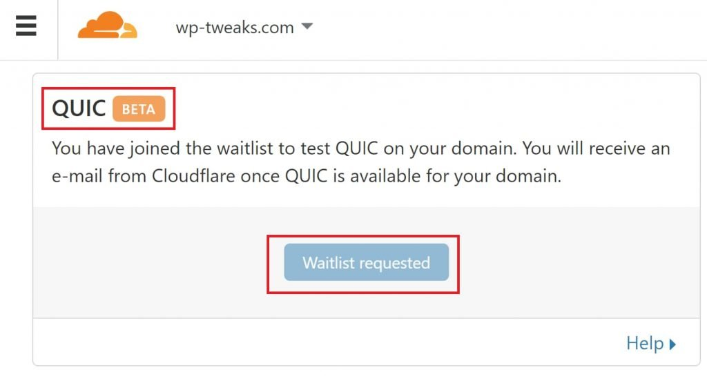 Cloudflare's QUIC is still in beta