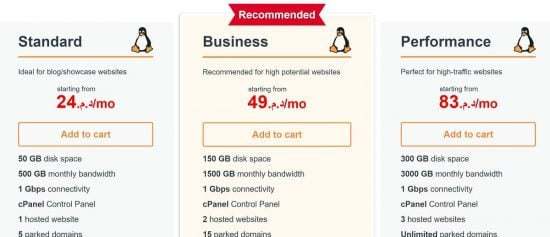 Heberjahiz web hosting prices