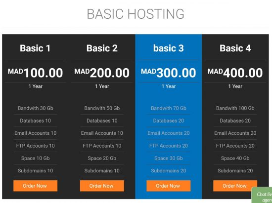 Naja7Host Web Hosting Prices in Morocco