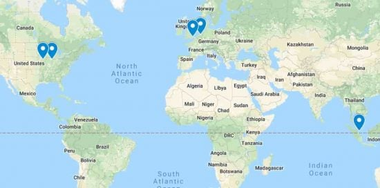 SiteGround Datacenters on the World Map