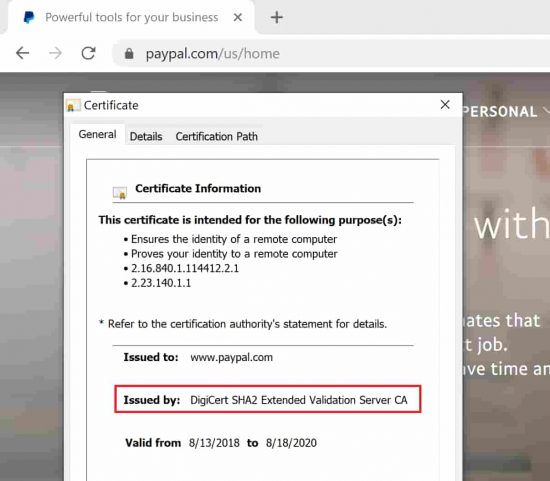 SSL Information is now hidden away in the information box