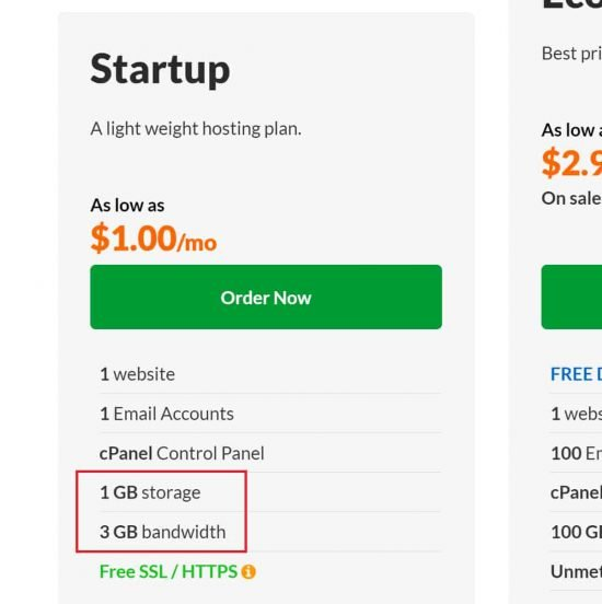 Exabytes low cost plan is very restrictive