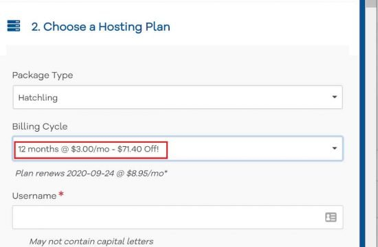 Increased price for 12-months Hostgator Hosting