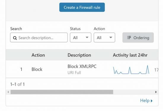 Block XML-RPC with Cloudflare firewall rules