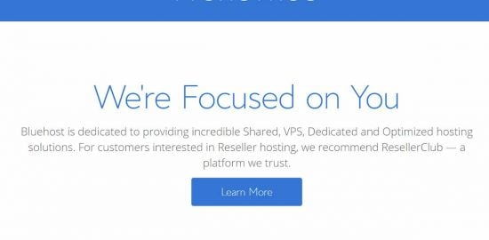 BlueHost Reseller Plan Migrated to ResellerClub
