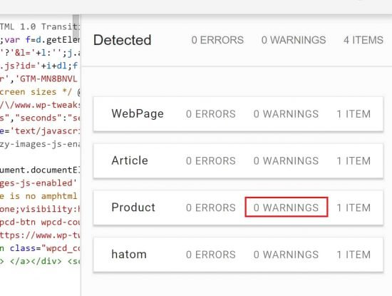 Remove structured data warnings