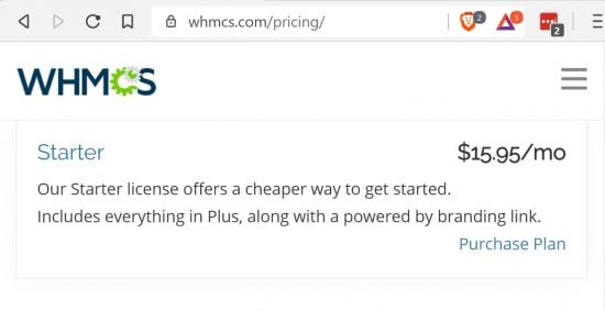 Ordinary Pricing for WHMCS