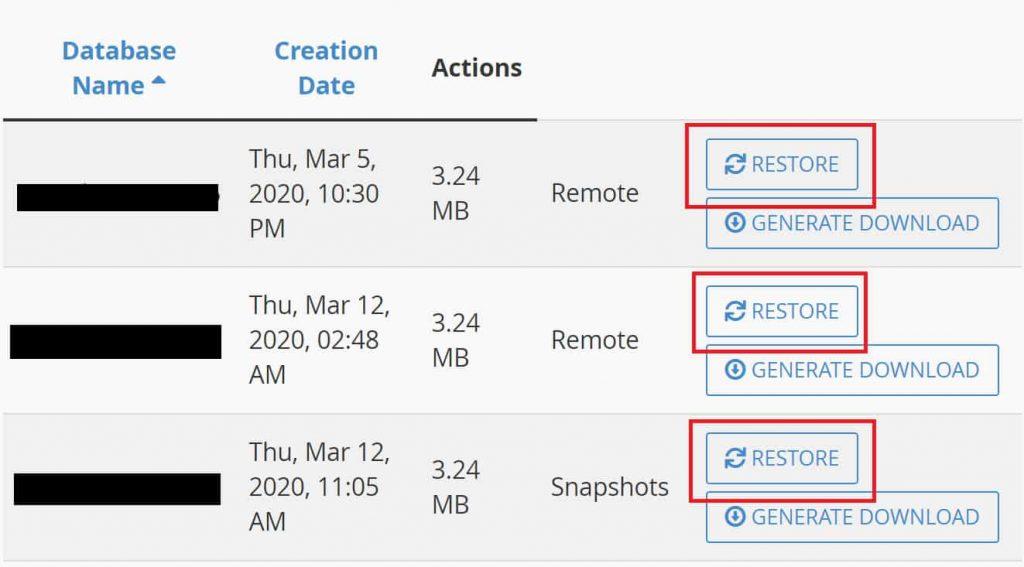 Restoring NameHero Database Backups