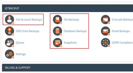 NameHero Backups are Powered by JetBackup