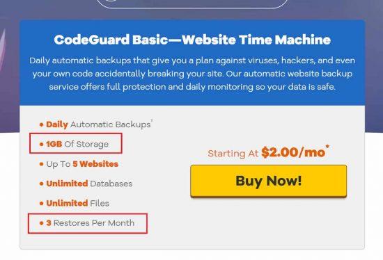 Hostgator CodeGuard is Quite Bad