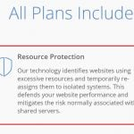 Bluehost Resource Protection