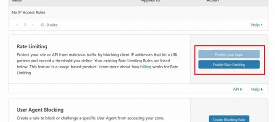 Rate Limiting is Normally a Paid Feature of a Security Service